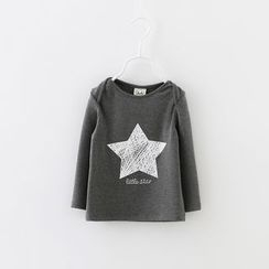 Lemony dudu - Kids Star Printed Long-Sleeve  T-shirt