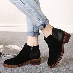 Mancienne - Zip Ankle Boots