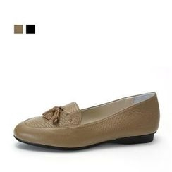 MODELSIS - Tasseled Genuine Leather Loafers