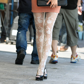 59 Seconds - Rose Print Tights