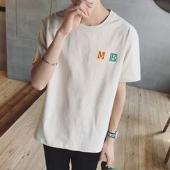 JUN.LEE - Letter Short-Sleeve T-shirt