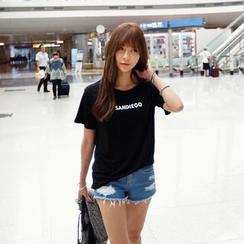 REDOPIN - Lettering Print T-Shirt
