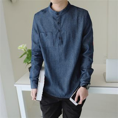 Esflow - 立領牛仔襯衫