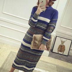 MayFair - Striped Long Sweater Dress