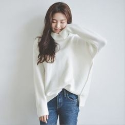 lilygirl - Plain Turtleneck Sweater