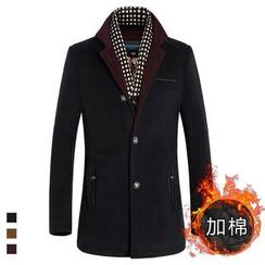 Cipher - 假兩件平駁領大衣