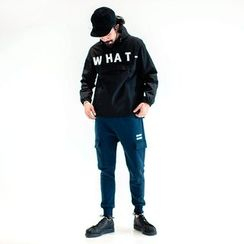 YIDESIMPLE - 'What' Hooded Windbreaker