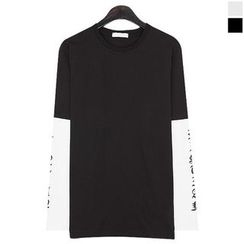 Seoul Homme - Color-Block Layered T-Shirt