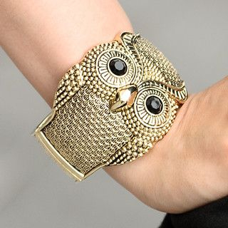 59 Seconds - Rhinestone Owl Bangle