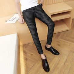 EVAMORE - Striped Slim Fit Pants