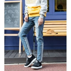 ABOKI - Distressed Washed Jeans