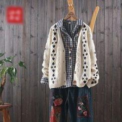 aerokiss - 麻花針織開衫