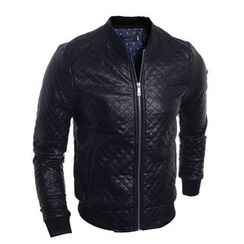 Fireon - Quilted Faux Leather Zip Jacket