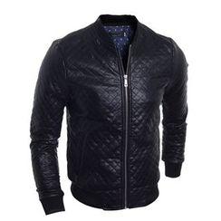 Fireon - 绗缝人造皮拉链夹克