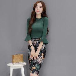 Soraka - Set: Sweater + Printed Skirt