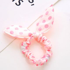 Gold Beam - Dotted Bow Hair Tie