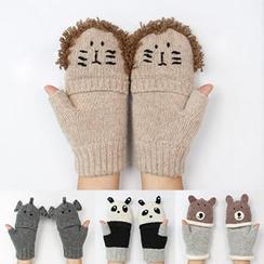 Rose Shop - Animal Knit Gloves