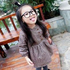 CUBS - Kids Polka Dot Long Sleeve Dress