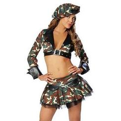 Cosgirl - 迷彩軍角色扮演服套裝