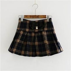 Storyland - Plaid A-Line Skirt