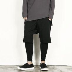 Rememberclick - Inset Leggings Shorts