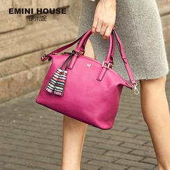 Emini House - Genuine Leather Tote with Tassels