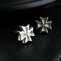 Sterlingworth - Hand Made Cross Single Stud Earring