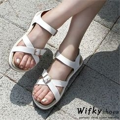 Wifky - Cross-Strap Sandals