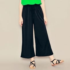 HOTPING - Bang-Waist Wide-Leg Pants