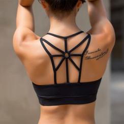 G.LIMITROCK - 交叉肩带健身文胸