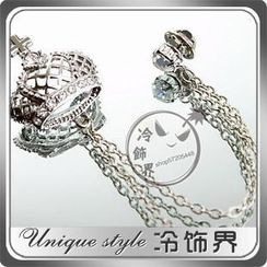 潮野 - 水鑽皇冠鏈條胸針