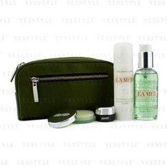 La Mer 海藍之謎 - Essentials Set: Cleansing Gel 100ml + Moisturizing Lotion 50ml + Eye Concentrate 5ml + Lip Balm 9g + Bag