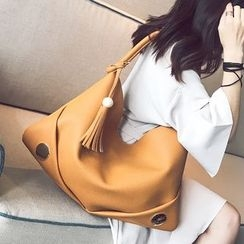 Skyglow - Faux Leather Tote Bag