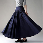 Moonbasa - Smocked A-Line Maxi Skirt