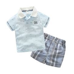 Seashells Kids - Kids Set: Short-Sleeve Polo Shirt + Shorts