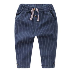 lalalove - Kids Pinstriped Drawstring Pants