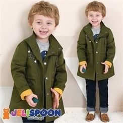 JELISPOON - Kids Appliqué Embroidered Parka