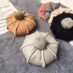 Pompabee - Bobble Fleece-lined Beret Hat