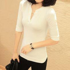 Simpure - Elbow-Sleeve T-Shirt