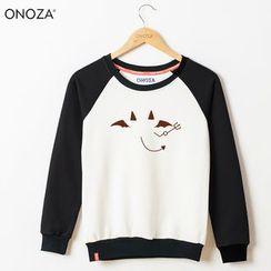 Onoza - 插肩印花套头衫