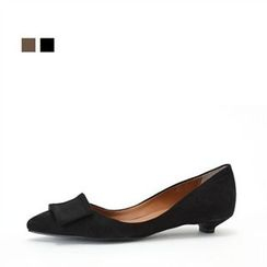 MODELSIS - Pointy-Toe Kitten-Heel Pumps