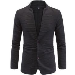 Constein - Applique Collarless Blazer