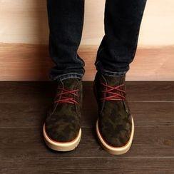 MARTUCCI - 真皮迷彩印花恰克靴