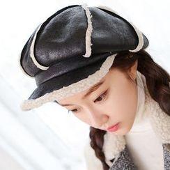 Hats 'n' Tales - Fleece-lined Panel Beret Hat