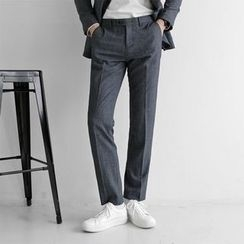 Seoul Homme - Straight-Cut Wool Blend Dress Pants