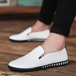 Chariot - Faux-Leather Slip-On Sneakers