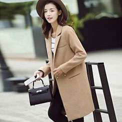 YUMU - Woolen Long Coat