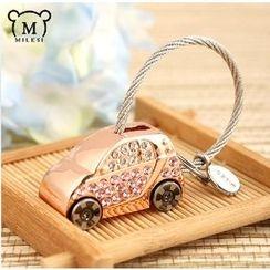 MILESI - 水钻金属匙扣