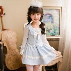 糖果雨 - 小童长袖雪纺连衣裙