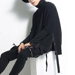 Bjorn - High-Neck Long-Sleeve Sweatshirt